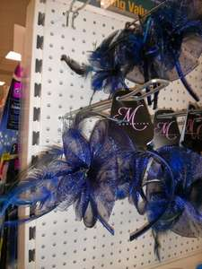Feather & net fascinator £1 @ Poundland