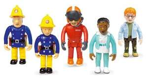Fireman Sam - Set of 5 Articulated Figures £6.99 @ B&M