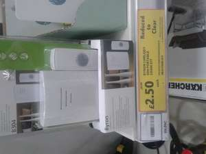 Byron Wirefree Portable Door Chime Kit 2.50 @ Tesco (Instore)