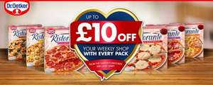 Buy a promotional Dr Oetker Pizza and you can claim two voucher £1 and £1.50 also chance to win either £5 or £10 shopping voucher after following the method below the pizza equals to £1.16 each!!!