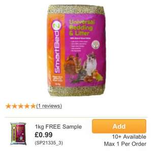 Smartbedz Universal Bedding And Litter  free pay £2.99 postage @ Monster Pet Supplies