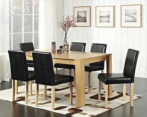 Small Dining Table and 4 Chairs with Faux Leather Oak Walnut Furniture Room Set £139.99 @ Ebay/unbeatable09