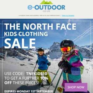 KIDS NORTH FACE SALE JACKETS £34.65 @ e-outdoors