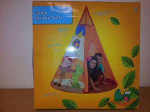 Asda tee pee tent £20 down to £6!  In store only by the looks of things