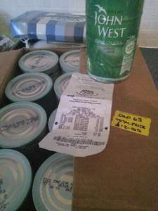case of 12 packs of 4 john west tuna chunks in spring water £12.00 or pack of 4 £1.00 @ ASDA