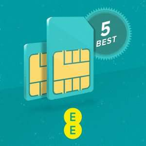 EE 4G 5GB Sim Only 12 Month Plan (Total £179.88) @ EE via Phone