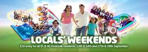 Anyone living within a HG (Harrogate) or DL (Darlington) postcode £10 entry to Lightwater Valley Theme Park