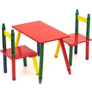 wooden kids Crayon table and chair only £24.99 @ toys r us