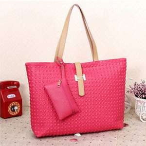 Women's Classic PU leather Tote Bag, Hand bag/ Beach Zip Bag £3.99 sold by Thinkprice Ebay