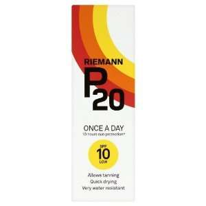 Riemann P20 Once A Day 10 Hours Protection Sun Cream SPF10 200ml £9.99 at B&M Bargains