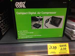 Digital Air compressor £7.50 instore @ Tesco