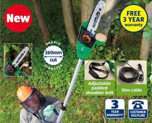 Electric Pole Pruner + 3 YEAR Warranty only £59.99 @ Aldi