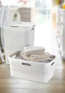 Curver rattan style rectangular laundry basket £2.00 in-store @ B&Q