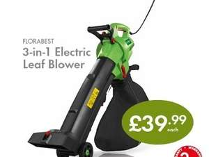 FLORABEST 3-in-1 Electric Leaf Blower £39.99  at Lidl from Monday 08/09/14