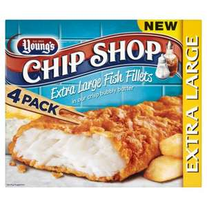Young 4 Large chip shop batter fish fillets £2.00 @ Farmfoods