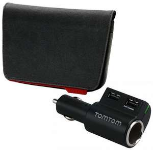 Tom Tom Accessory Bundle Pack - Sat Nav Case & High Speed Charger Was £25 Now £15 C&C Only  @ Halfords