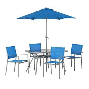 Wilko Garden Furniture Dining Set Blue 6 Piece £30.00   (delivered to store for free or £3.50 Del)