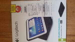 Logitech Ultathin keyboard folio case, Samsung Galaxy Tab 3 10.1, Tesco only £22.50 instore