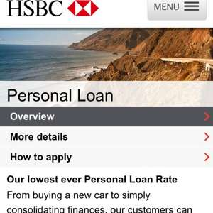 Personal Loan by HSBC only 3.9%