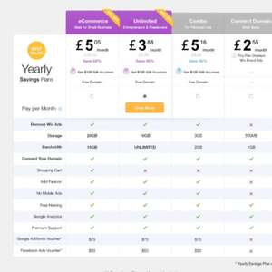 Half price hosting £3.88 at wix.com