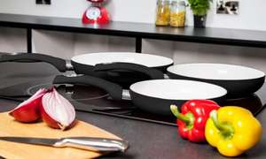 Cook in Colour Ceramic Non-Stick Frying Pans: 1 (£7.99), 2 (£13.99) or 3 (£22) at Groupon