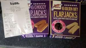 6 choccy/golden oaty Flapjack's 65p lidl