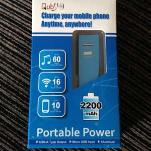 Quby Power Bank and 0.3M Micro USB Cable £3.00 @ Asda