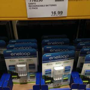 8 AA & 4 AAA Sanyo Eneloop Batteries With Charger £20.38 at Costco