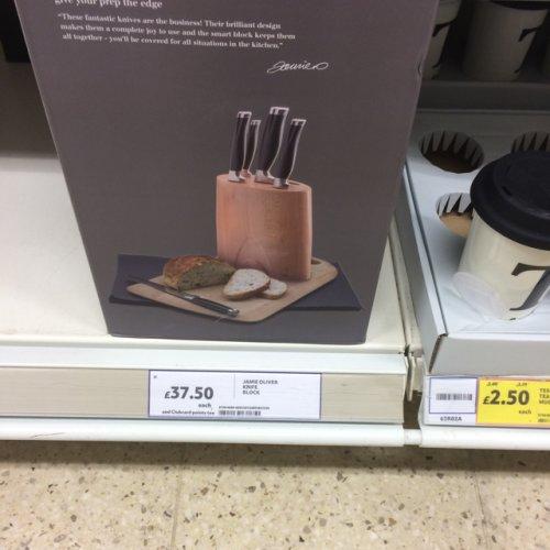 Jamie Oliver 5 Piece Knife Block Set £37.50 @ Tesco instore