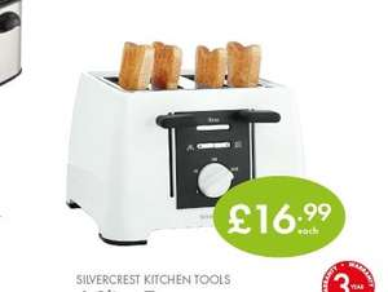 SILVERCREST 4 Slice Toaster £16.99 @ lidl