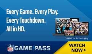 NFL GamePass 15% Off - Season Plus £101.99/Season £84.99/Follow Your Team £67.99 + Possible 12% Quidco