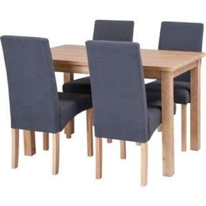 Erin Oak Dining Table & 4 Charcoal Fabric Chairs.  for £208.94 Delivered @ argos.co.uk