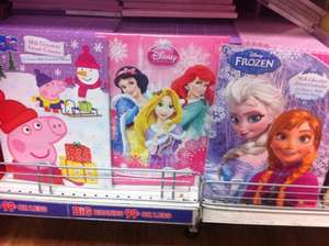 Frozen, Peppa Pig and Disney Princess advent calendar £0.99 at 99p shop