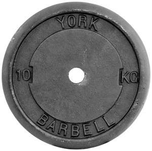 York 10kg Standard Cast Iron Discs, 2 x 10kg £30.08 inc. next day delivery @ Amazon