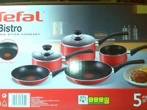 Tefal Bistro 5 Piece Non Stick Thermospot Red Pan Set Now £25 @ Morrisons