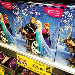 Disney Frozen My Busy Book with Storybook, 12 Figurines and Playmat - Only £3.99 at Home Bargains INSTORE ONLY