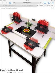 Deluxe Full Size Router Table Was £199.95 Now £99.95, Great reviews!  Free C&C/ £5.95 Delivery @ Rutlands