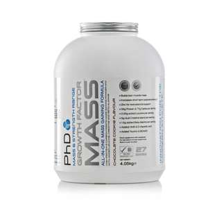 PhD Nutrition 4.05Kg Chocolate Cookie Growth Factor Mass - £23.95 @ Amazon