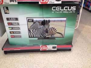 "Celcus 40"" Full HD 1080p LED tv - £199.99 instore @ Sainsbury's"