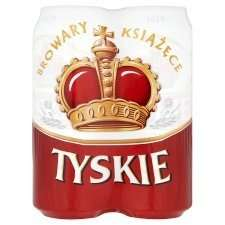 12 x 500ml cans of Tyskie 5.6% Polish Lager for £10 @ Tesco