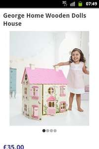George Home Wooden dolls house £35.00 at Asda Direct