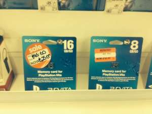 PS Vita memory cards 8gb for £12 instore @ ASDA