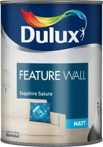 £3 Dulux Matt Feature Wall Sapphire Salute- 1.25l paint at asda!