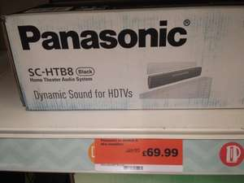 Panasonic sc htbe8-k soundbar £ 69.99 @ Sainsburys