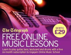 Free Online Music Lessons worth £29.00 @ The Telegraph