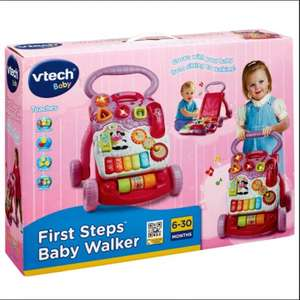 Vtech Pink first steps baby walker £6.50 @ Tesco instore