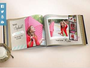 98 Page Photobook with Personalised Cover for £19 on Amazon Local by TRUPRINT