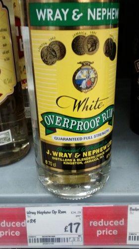 Wray & nephew 63% vol 70cl white overproof rum £17 @ Asda