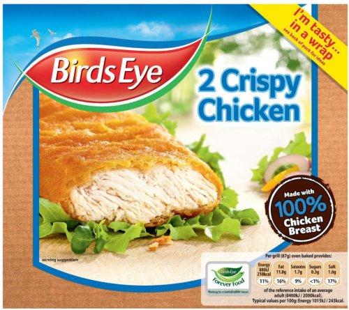 Birds Eye Crispy Chicken (2 per pack - 170g) was £1.69 now 84p @ Morrisons