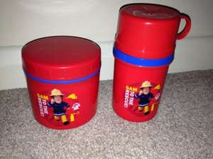 Fireman Sam flask & thermos tub £1 each instore @ Home Bargains